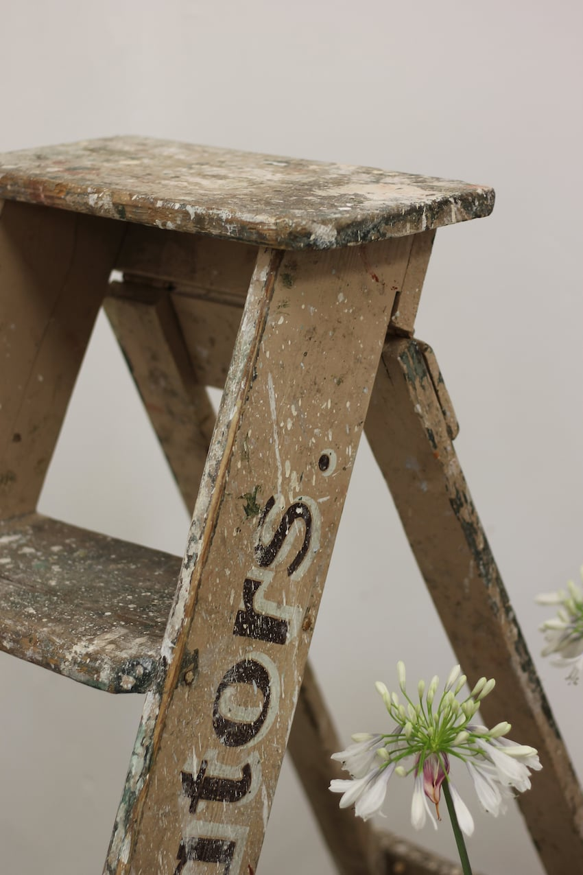 original-painted-ladder-close-up